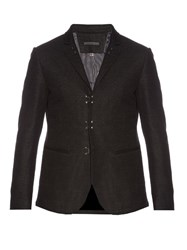 John Varvatos Cotton Hook And Bar Blazer Dark Grey