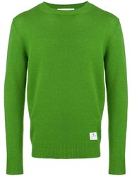 Department 5 Long Sleeve Fitted Sweater Green