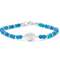 Isaia San Gennaro Bead And Silver Bracelet Blue
