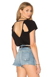 Chaser Triangle Vent V Back Tee Black