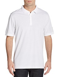 Callaway Striped Polo Shirt Bright White