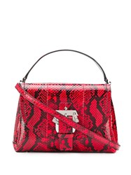 Paula Cademartori Snake Effect Tote Red