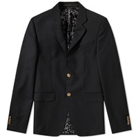 Givenchy Gold Button Single Breasted Blazer Black