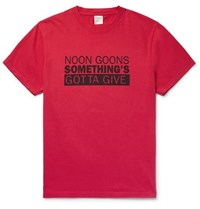 Noon Goons Printed Cotton Jersey T Shirt Red
