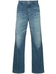 Hysteric Glamour Straight Two Tone Jeans Cotton Blue