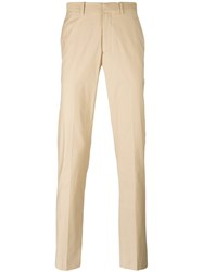 Theory Chino Trousers Men Cotton Spandex Elastane 36 Nude Neutrals
