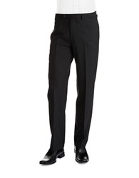 Lauren Ralph Lauren Classic Fit Mid Weight Flat Front Wool Trouser Pants Black