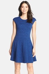 Felicity And Coco Floral Print Fit And Flare Dress Blue