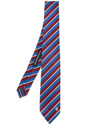 Alexander Mcqueen Striped Tie Blue