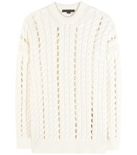 Alexander Wang Cable Knit Cotton Sweater Beige