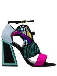 Kat Maconie Colour Block Sandals Black