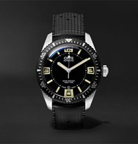 Oris Divers Heritage Sixty Five 40Mm Stainless Steel And Rubber Watch Black