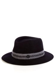 Maison Michel Andre Wool Felt Hat Navy