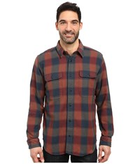 Filson Vintage Flannel Work Shirt Rust Blue Charcoal Men's Clothing Rust Blue Charcoal