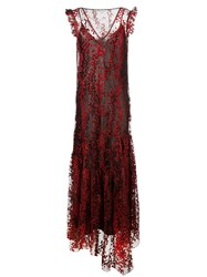 Opening Ceremony Tulle Layer Maxi Dress Red