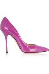 Casadei Patent Leather Pumps Purple