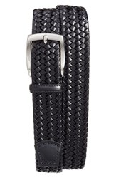 Torino Belts Men's Big And Tall Woven Leather Belt Black