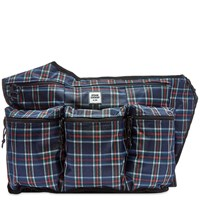 Opening Ceremony Plaid Sling Backpack Blue