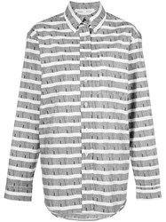 Proenza Schouler Pswl Graphic Stripe Shirt Black