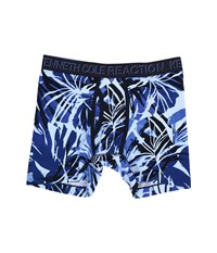 Kenneth Cole Reaction Boxer Brief Navy Tropical Leaves Men's Underwear Blue
