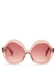 Kaleos Jones Oversized Sunglasses Pink