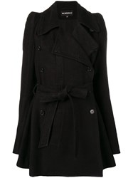 Ann Demeulemeester Belted Trench Coat Black