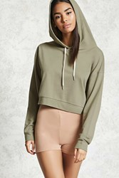 Forever 21 Cropped French Terry Hoodie