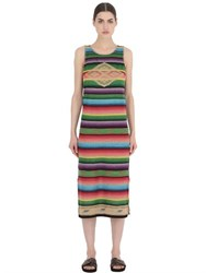 Polo Ralph Lauren Striped Cotton Blend Knit Tank Dress