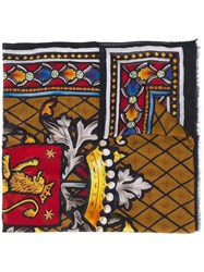 Dolce And Gabbana Stained Glass Print Scarf Black