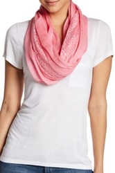 Melrose And Market Mixed Lace Loop Scarf Pink