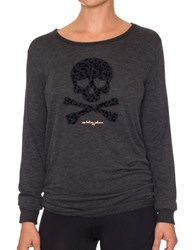 Betsey Johnson Leopard Solid Long Sleeve Pullover