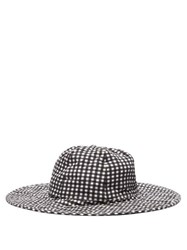 Marysia Gingham Check Cotton Bucket Hat Black