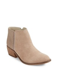 Dune Penelope Leather And Suede Ankle Boots Taupe