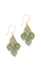 Miguel Ases Faye Earrings Turquoise