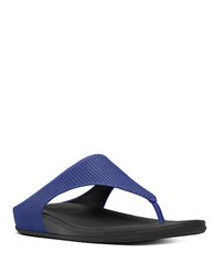 Fitflop Banda Tm Perforated Toe Thong Sandals Royal Blue
