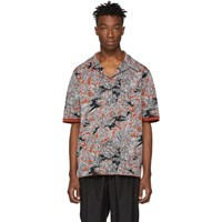 3.1 Phillip Lim Tan Floral Palm Tree Polo
