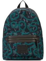 Coach X Keith Haring Academy Backpack Blue