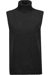 Magaschoni Cashmere Turtleneck Top Charcoal