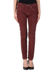 M.Grifoni Denim Casual Pants Maroon