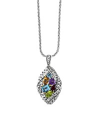 Effy Amethyst Topaz Citrine Garnet Peridot And 18K Goldplated Sterling Silver Pendant Necklace