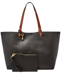 Fossil Rachel Tote With Pouch Black