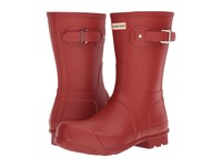 Hunter Original Short Military Red Men's Rain Boots Tan