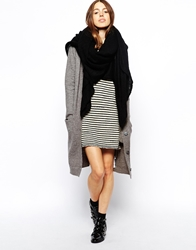 Asos Oversized Knit Scarf Black