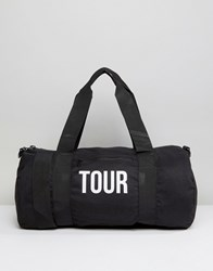 Reclaimed Vintage Tour Barrel Bag Black