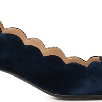Chloe Leather Pumps Blue Lagoon