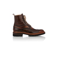 Harris Wingtip Lace Up Boots Brown