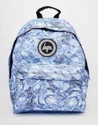 Hype Backpack In Marble Print Bl1blue1