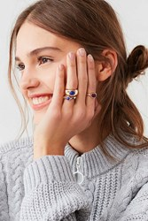 Urban Outfitters Cyra Statement Ring Set Gold