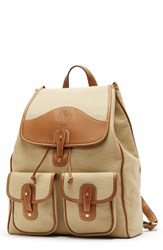 Ghurka Men's Blazer Backpack Beige Khaki Twill