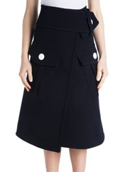Marni Cargo Pocket Wrap Skirt Blue